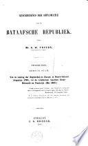 Inleiding Tot Eene Geschiedenis Der Nederlandsche Diplomatie