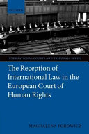 The Reception of International Law in the European Court of Human Rights