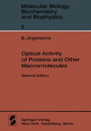Pdf Optical Activity of Proteins and Other Macromolecules Telecharger