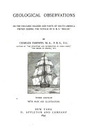 Geological Observations on the Volcanic Islands and Parts of South America Visited During the Voyage of H.M.S.
