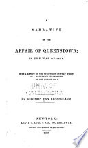 A Narrative Of The Affair Of Queenstown