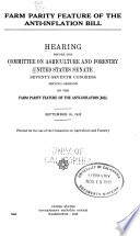 Farm parity feature of the anti-inflation bill Pdf/ePub eBook