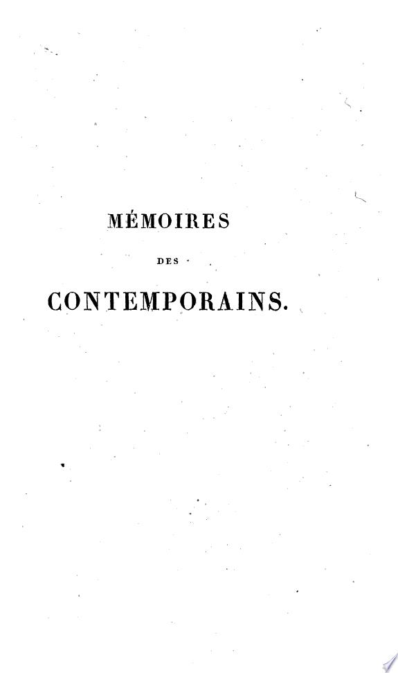 Mémoires autographes de Don A. de