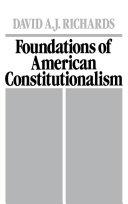 Foundations of American Constitutionalism