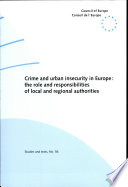 Crime and Urban Insecurity in Europe