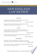 New England Law Review Volume 48 Number 2 Winter 2014