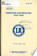 Inspection Authorization Study Guide