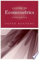 A Guide to Econometrics Book