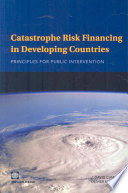 Catastrophe Risk Financing in Developing Countries Book