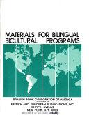 Materials for Bilingual Bicultural Programs