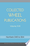 Collected Wheel Publications Volume XVII Book