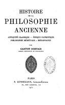 Histoire de la philosophie ancienne