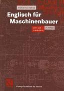 Englisch für Maschinenbauer