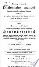 Nouveau Dictionnaire manuel françois-allemand et allemand-françois