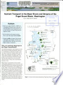 Nutrient Transport in the Major Rivers and Streams of the Puget Sound Basin, Washington