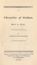 Ye Chronicles Of Gotham
