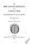 The Irish Language Miscellany