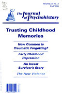 The Journal of Psychohistory Book