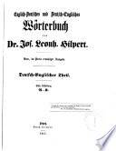 A Dictionary of the English and German and the German and English Language