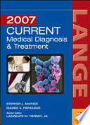 Current Medical Diagnosis & Treatment 2007