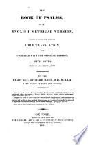 The Book Of Psalms In An English Metrical Version