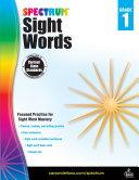 Spectrum Sight Words, Grade 1 Pdf/ePub eBook