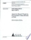 Information Security Agencies Report Progress But Sensitive Data Remain At Risk Book PDF