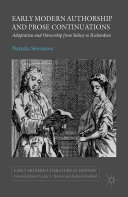 Early Modern Authorship and Prose Continuations Book