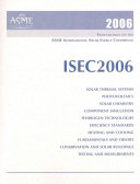 Proceedings Of The Asme International Solar Energy Conference 2006 Book PDF