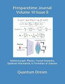Prespacetime Journal Volume 10 Issue 8