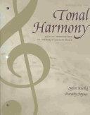 Tonal Harmony Wkbk with Wkbk Audio CD and Finale CD ROM