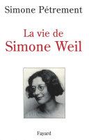 Pdf La Vie de Simone Weil Telecharger