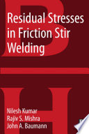 Residual Stresses in Friction Stir Welding Book