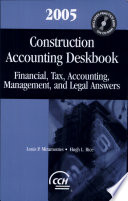 Construction Accounting Deskbook 2005 Book
