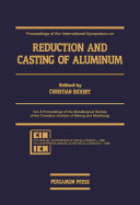 Pdf Proceedings of the International Symposium on Reduction and Casting of Aluminum Telecharger