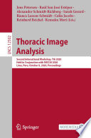 Thoracic Image Analysis Book