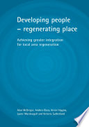 Developing People Regenerating Place