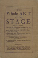 The Whole Art of the Stage