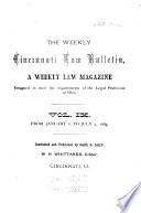 Weekly Cincinnati Law Bulletin