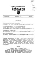 California Journal of Educational Research