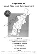 North Atlantic Regional Water Resources Study  Appendix G  Land use and management