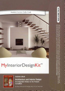 Architecture And Interior Design MyInteriorDesignKit Pass Code An Buie HarwoodBridget MayCurt Sherman No Preview Available