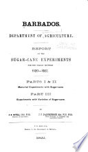 Report on the Sugar-Cane Experiments