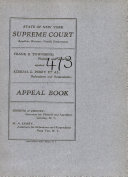 State of New York Supreme Court Appellate Division Fourth Department Book