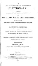 A New Mathematical and Philosophical Dictionary