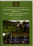 Proceedings of the International Conference on Sustainable Sloping Lands and Watershed Management