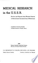 Medical Research in the U S S R