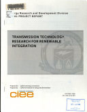 Transmission Technology Research For Renewable Integration Book PDF