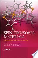 Spin Crossover Materials