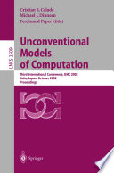 Unconventional Models of Computation
